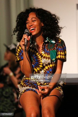 Getty Images Solange Knowles in African Print Dress