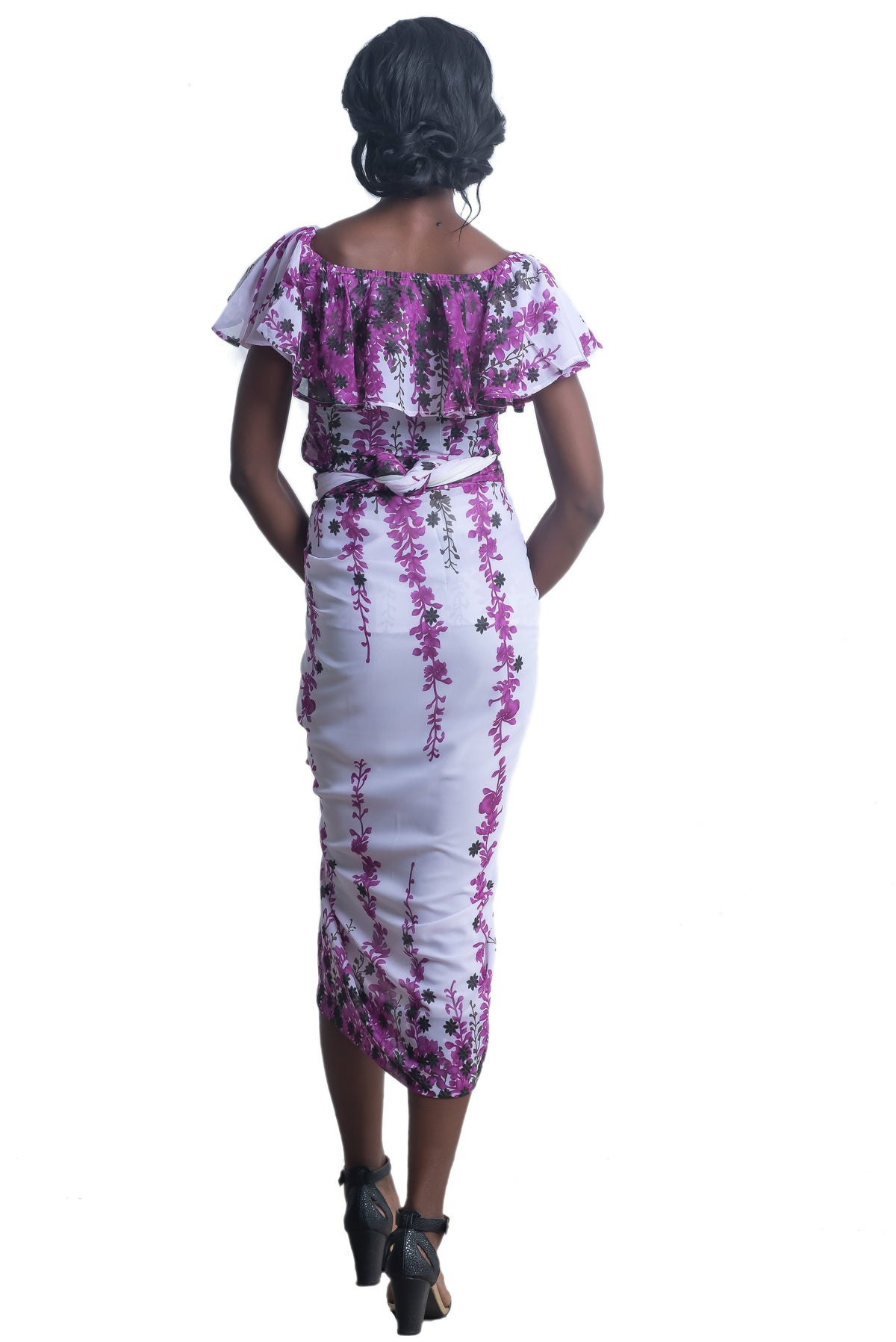 Meena Off-Shoulder Iro and Buba (Purple)