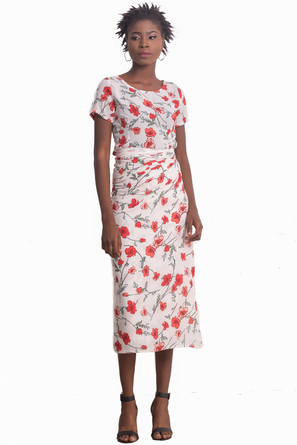 Leila Chiffon Iro and Buba (Red)