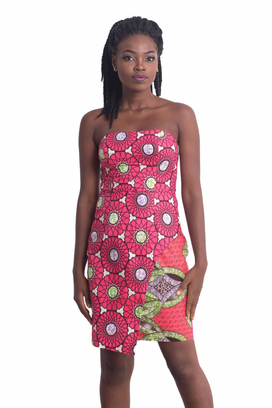 Sisi Eko Faux Wrap Dress (Pink on Pink) – Ankarage