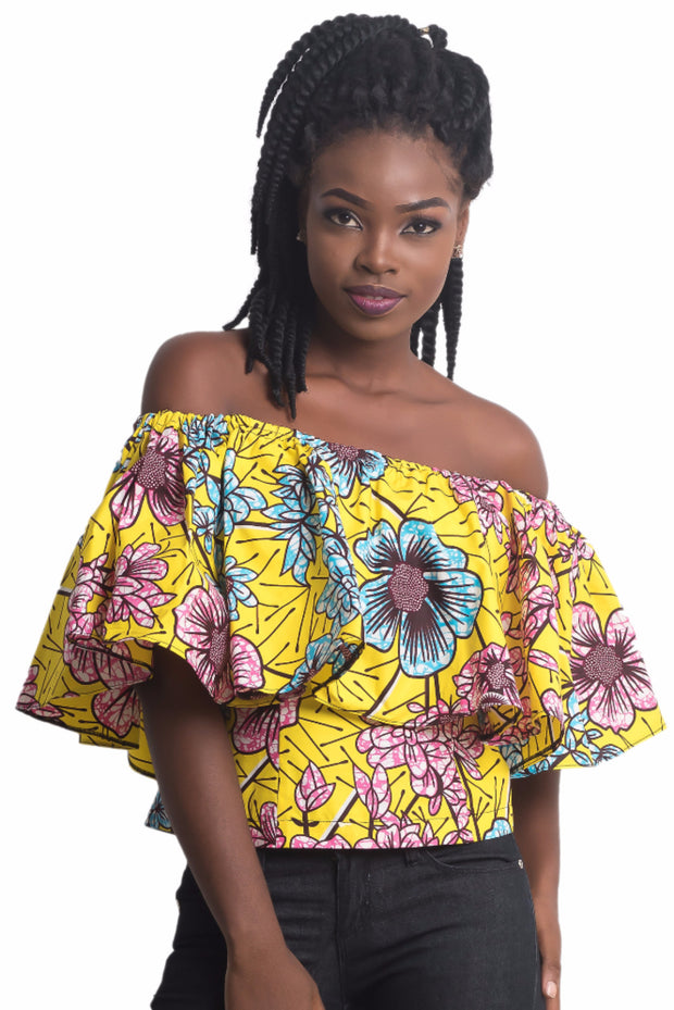 Ankarage Ankara African Print Yellow Top Fisayo