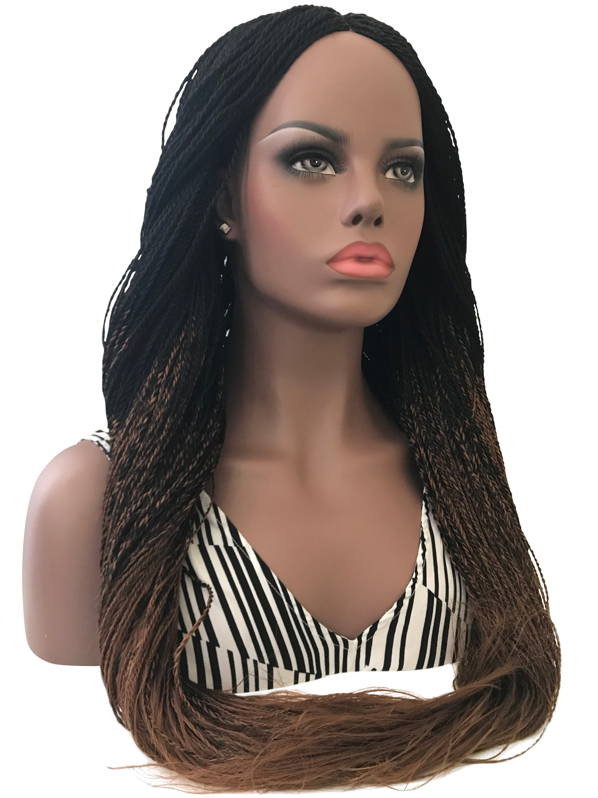 Handmade Braided Wigs Senegalese Twist - Ombre 22 Inches