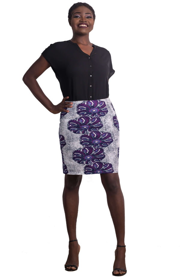Yemisi Floral Straight Skirt