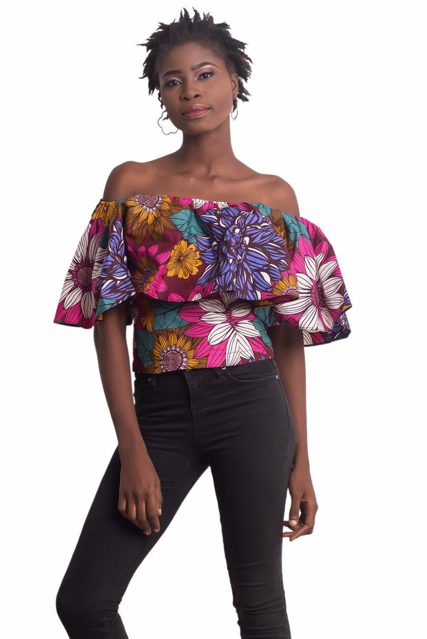 Radhiya Off Shoulder Floral Top