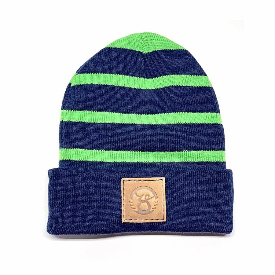 Hawks Leather Patch Beanie