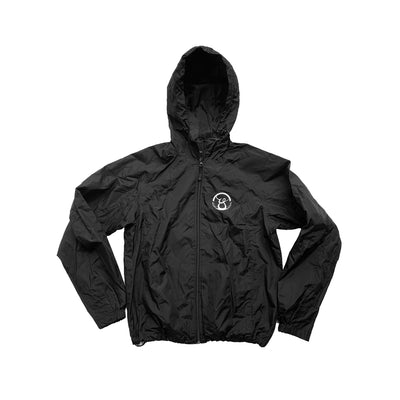 Oy- brand black jacket with hood.