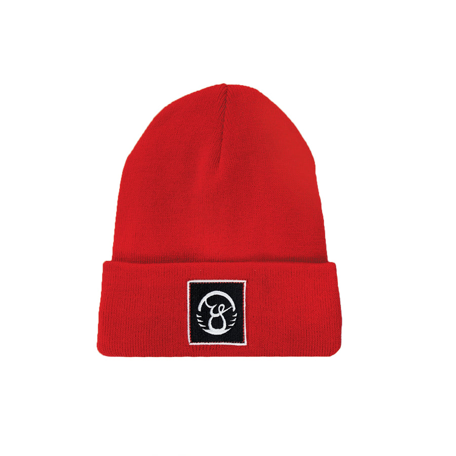 Red Fleece Lined Beanie