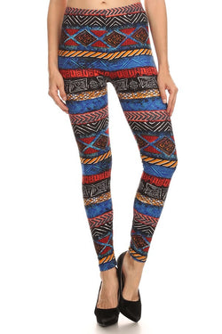 Multicolor Tribal Print Leggings