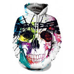 Oversized Skull Printing Hoodie Sweatshirt - On Trends Avenue
