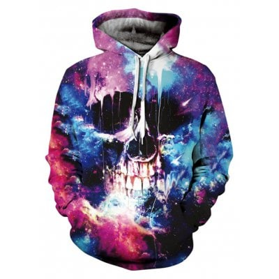 Oversized 3D Printing Halloween Hoodie Sweatshirt - On Trends Avenue