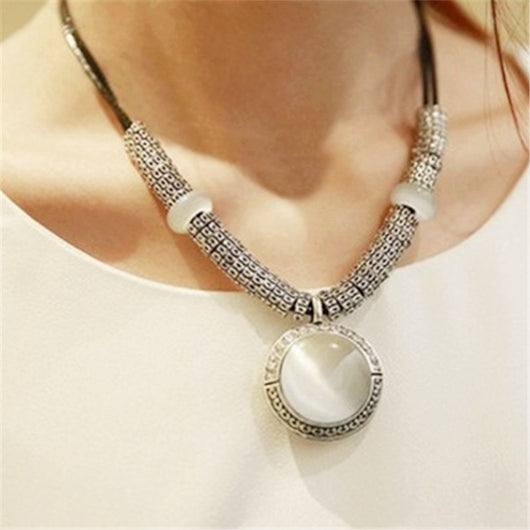 Lemon Value New Statement Choker Fashion Rhinestone Clavicle Collar Vintage Crystal Opal Rope Chain Necklaces Women Jewelry A230 - On Trends Avenue
