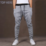 Casual Men Pants Hot Sale Unique Big Pocket Hip Hop Harem Pants Fitness Clothing Quality Outwear Casual Men Joggers TOP HERE - On Trends Avenue