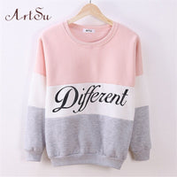 women fleece hoodies printed letters Different - On Trends Avenue