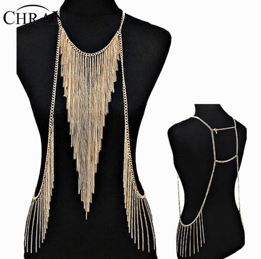 Stunning Sexy Body Belly, Waist, Women Lady Tassel Choker Necklace Chain Necklace Party Evening Dress Decor DDFJBN2053 - On Trends Avenue