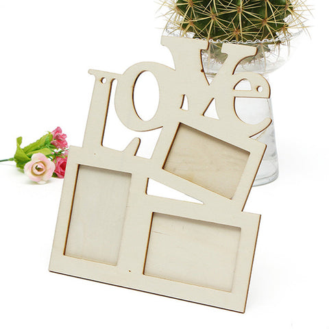 Love Wooden Family Photo Picture Frame Rahmen White - On Trends Avenue