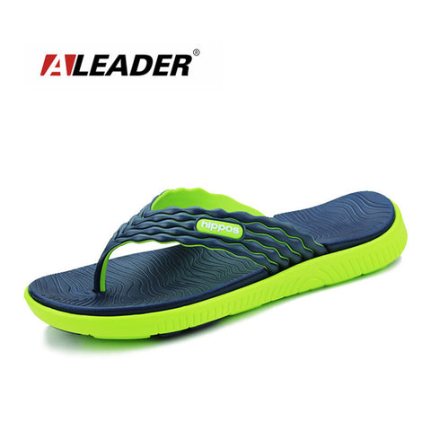 Summer Flip Flops High-quality Soft  Massage Beach Slippers Fashion Sandals Casual Sapatos masculino - On Trends Avenue