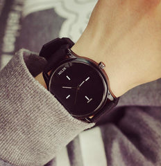 Original MILER Brand Soft Silicone Strap Jelly Quartz Watch Wristwatches for Women Ladies Lovers Black White - On Trends Avenue