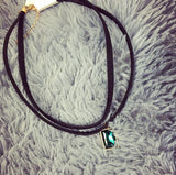 New Fashion Multilayer Black Imitation Leather Choker Necklace Gothic Chain Charm Gem Pendant Vintage Jewelry XY-N606 - On Trends Avenue