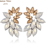 Lemon Value New Statement Bijoux Fashion Charms Rhinestone Earrings Vintage Boho Crystal Gem Stud Earrings Women Jewelry B032 - On Trends Avenue