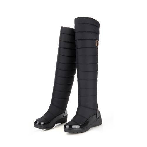 new arrival keep warm snow boots fashion platform fur thigh knee high boots warm boots for women shoes boats - On Trends Avenue