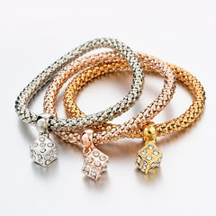 New Fashion Bracelets Bangles Jewelry Gold Silver Chain Bracelet Round Hollow Charm Bracelets For Women SBR140339 - On Trends Avenue