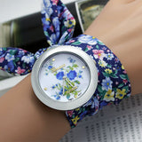 sloggi design Ladies flower cloth wristwatch fashion women dress watch high quality fabric watch sweet girls Bracelet watch - On Trends Avenue