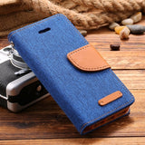 Leisure Women Man Stand Wallet Flip Case For iPhone 6 7 Fashion Hit Color Card Slot Leather Cover For iPhone 7 6s Plus With Logo - On Trends Avenue