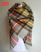 140x140cm Acrylic Cashmere Feel Plaid Scarf - On Trends Avenue