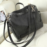 vintage casual nubuck leather handbags upgraded new hotsale women motorcycle tote ladies purse clutches shoulder shopping bags - On Trends Avenue