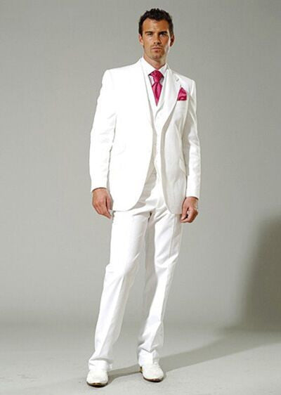 Mens Light Grey Suits Jacket Pants Formal Dress Men Suit Set men ...