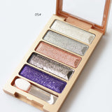 5 Colors Diamond High Quality pigment makeup eyeshadow pallette to eye kit maquiagem eye shadow beauty naked pallette - On Trends Avenue