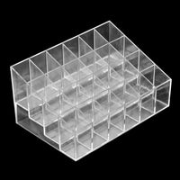24 Lipstick Holder Display Stand Clear Acrylic Cosmetic Organizer Makeup Case Sundry Storage makeup organizer organizador Brand - On Trends Avenue