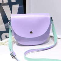 six candy color lady and fresh high quality girl/woman messenger bag women bag cross body bag school bag Saddle PU Leather - On Trends Avenue