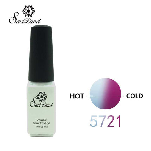 Saviland Mood changing UV Gel Chameleon Temperature Change Color Varnish Soak Off UV Gel Polish Long Lasting Thermo Nail Gel - On Trends Avenue