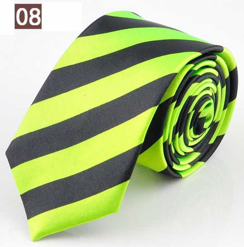 NEW STYLE Blue Red Green White Yellow Black Stripe Man's Classic Rayon Polyester Tie Business Wedding Party Men Fashion Necktie - On Trends Avenue