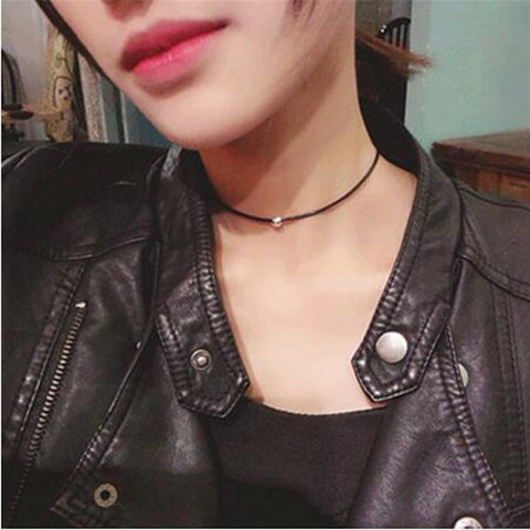Gothic Jewelry Black Necklace & Pendant False Collar Handmade Women Accessories Choker Pendant Necklaces for women Gift - On Trends Avenue