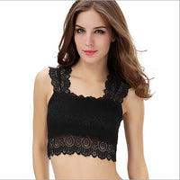 New Fashion Lace Bralette Top Women's Tanks Black and White Bras Vest Fashion Dress for Women - On Trends Avenue
