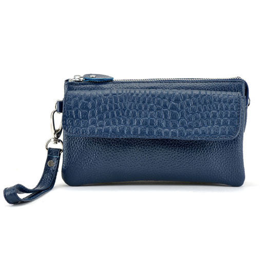 New Designer Female Real Genuine Leather Women Wallet Cosmetic Mobile Phone Ladies Clutch Bag Coin Holder Purse Credit Card - On Trends Avenue