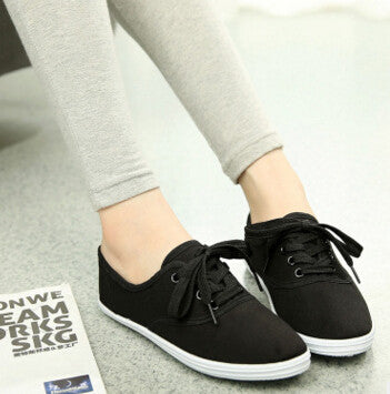 New  women canvas shoes breathable fashion brand women flat shoes woman size 35-42 - On Trends Avenue