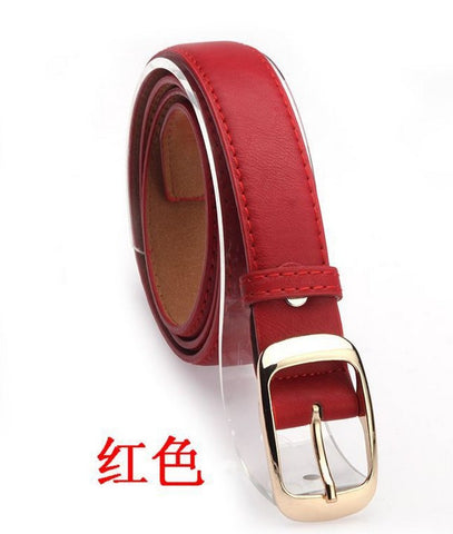 New Fashion Women Belt Brand Designer Hot Ladies Faux Leather Metal Buckle Straps Girls Fashion Accessories - On Trends Avenue