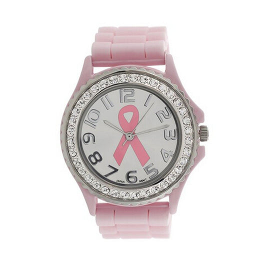 Relogio Feminino Women Girl Crystal Cancer Dial Quartz Analog Silicone Band Wrist Watch Hot Clock J17 - On Trends Avenue