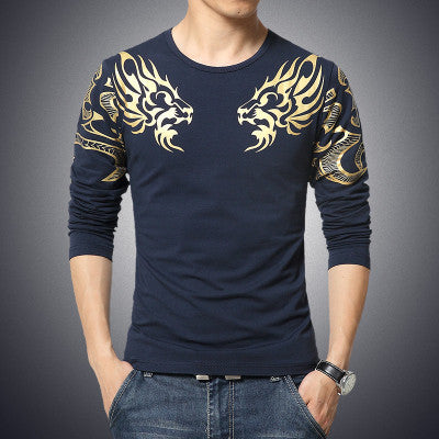 SIZES M-5XL men's t-shirt fashion Slim Dragon printing - On Trends Avenue