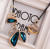 Lemon Value Statement Maxi Choker Vintage Charms Collar Gem Crystal Pendants Leather Rope Necklaces Women Jewelry Collier A469 - On Trends Avenue
