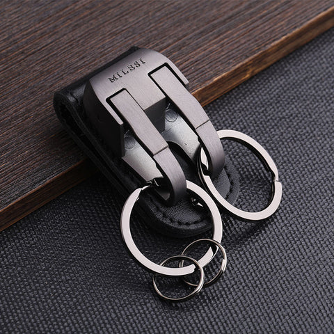 milesi brand men waist hung metal car keychain llaveros for belt slider key holder Trinket keyring chaveiro porte clef K0126 - On Trends Avenue