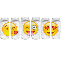 3 Pairs/Lot 3D Emoji Printing Expression Sock Women Men Socks Casual Cute Funny Socks Unisex Low Cut Ankle Sock - On Trends Avenue