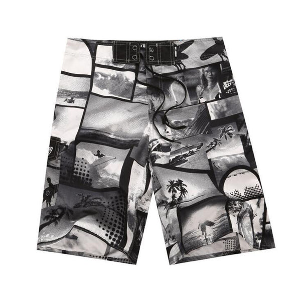 New arrive Mens Shorts Surf Board Shorts Summer Sport Beach Homme Bermuda Short Pants Quick Dry Silver Boardshorts New - On Trends Avenue
