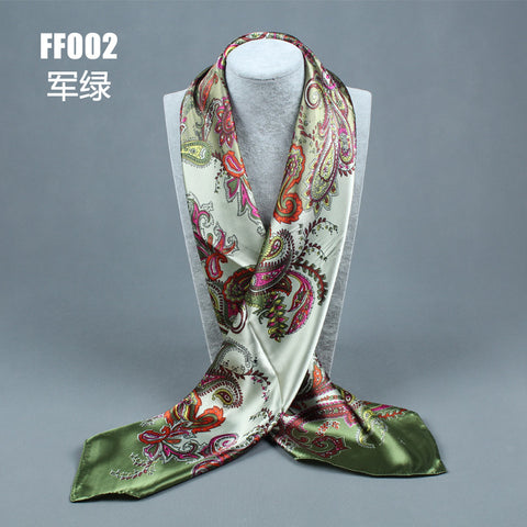 compass simulation trace towel summer style scarf Arrival painting Flower 90*90 Printed square scarf silk scarf woman - On Trends Avenue