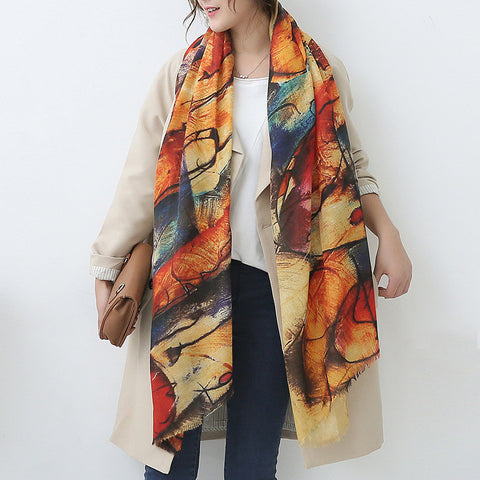 winrter big imitation cashmere scarf feel super good counters pallium female, women scarf, good looking scarf - On Trends Avenue