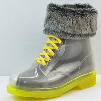 New Arrival 14 Colors Transparent Rain Boots Women Waterproof Martin Boots Water Jelly Shoes Botas Feminina Zapatos Mujer - On Trends Avenue