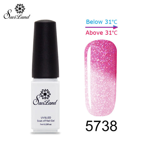 1pcs Thermo Varnishes Gel Polish Soak Off Mood Color Temperature Change LED UV Gel Nail Polish 7ml - On Trends Avenue